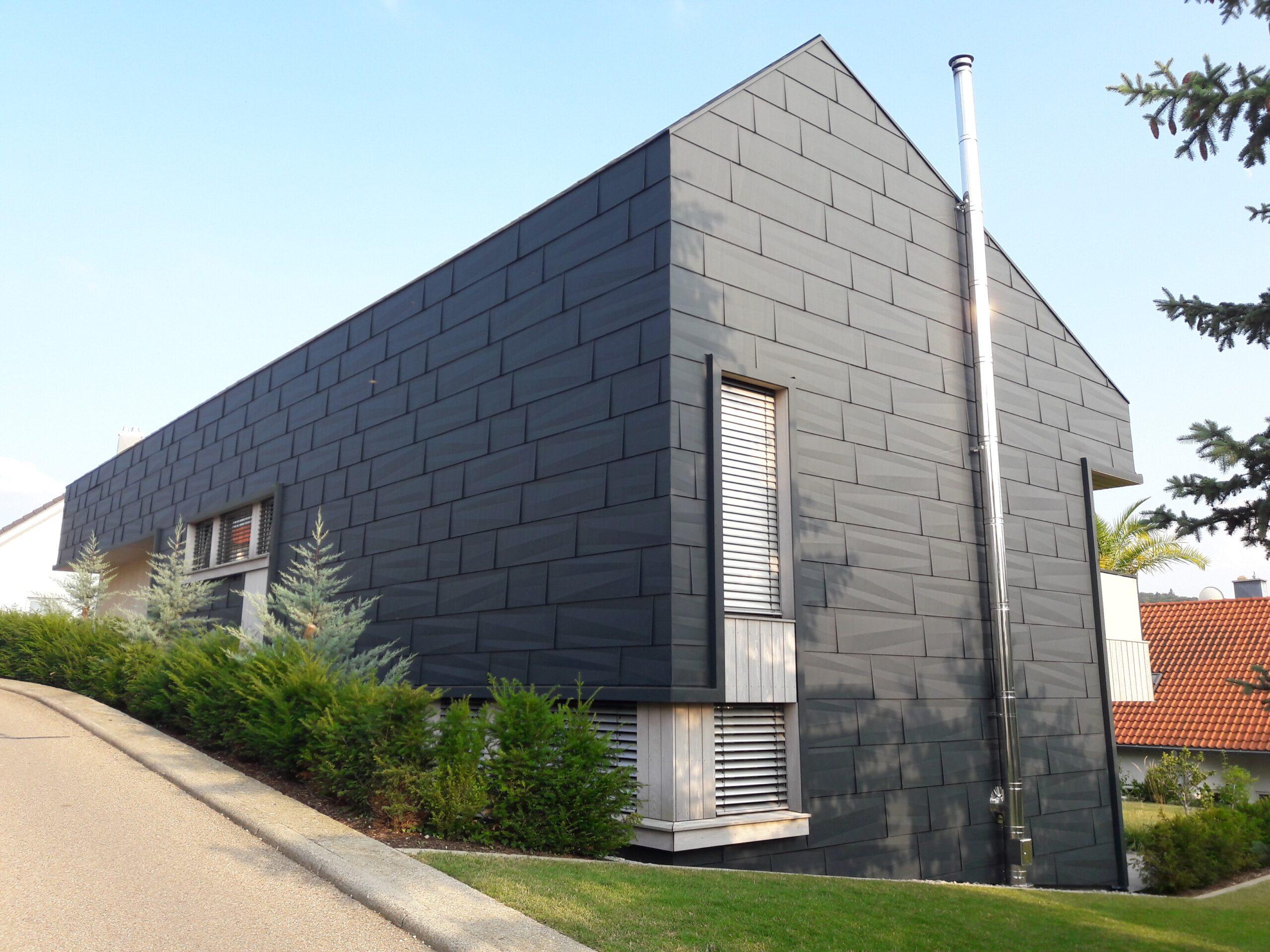 фасад из титан цинка